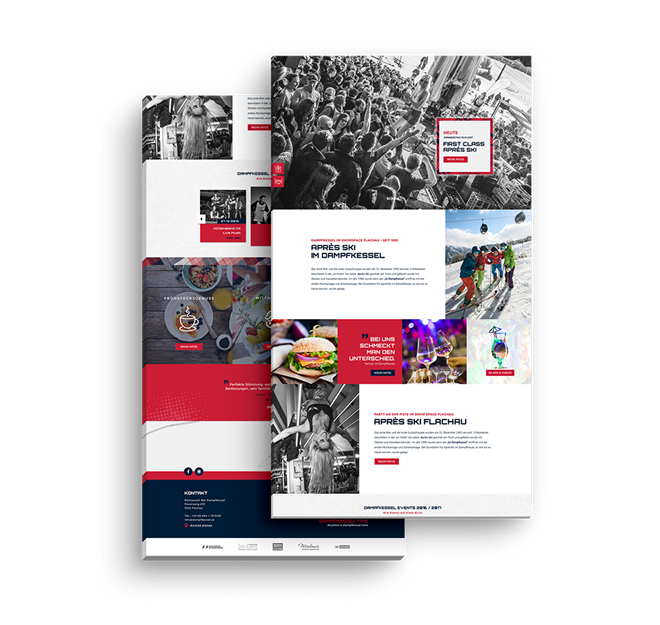 Referenzprojekt Dampfkessel Flachau | Werbeagentur Algo