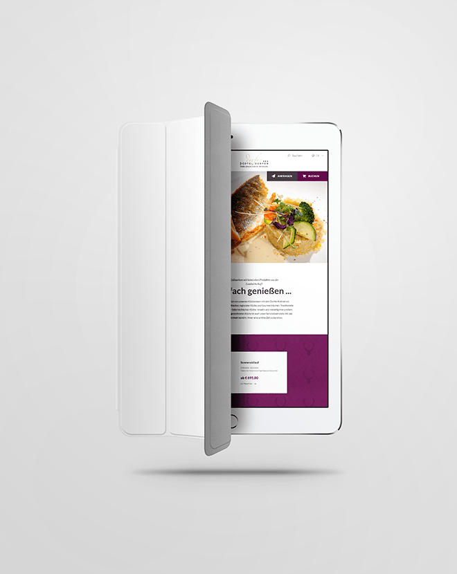 Responsive Website Hotel Dorfer auf Tabletmode