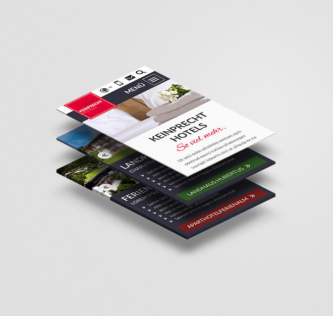 Website Mockup Keinprecht Hotels