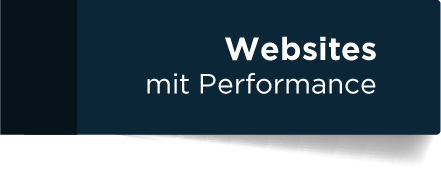 Websites mit Performance